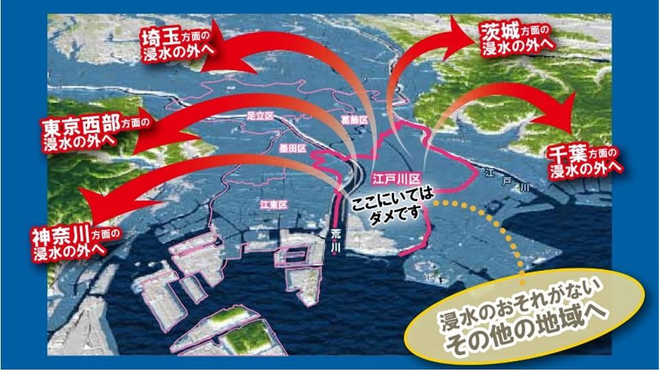 江戸川区避難警告
